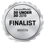 Lawyers Weekly 30UNDER30 2019: Finalist Migration